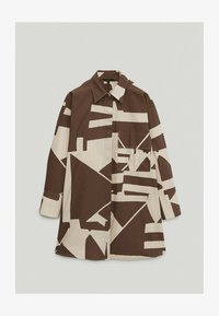 Massimo Dutti - Button-down blouse - brown - 0