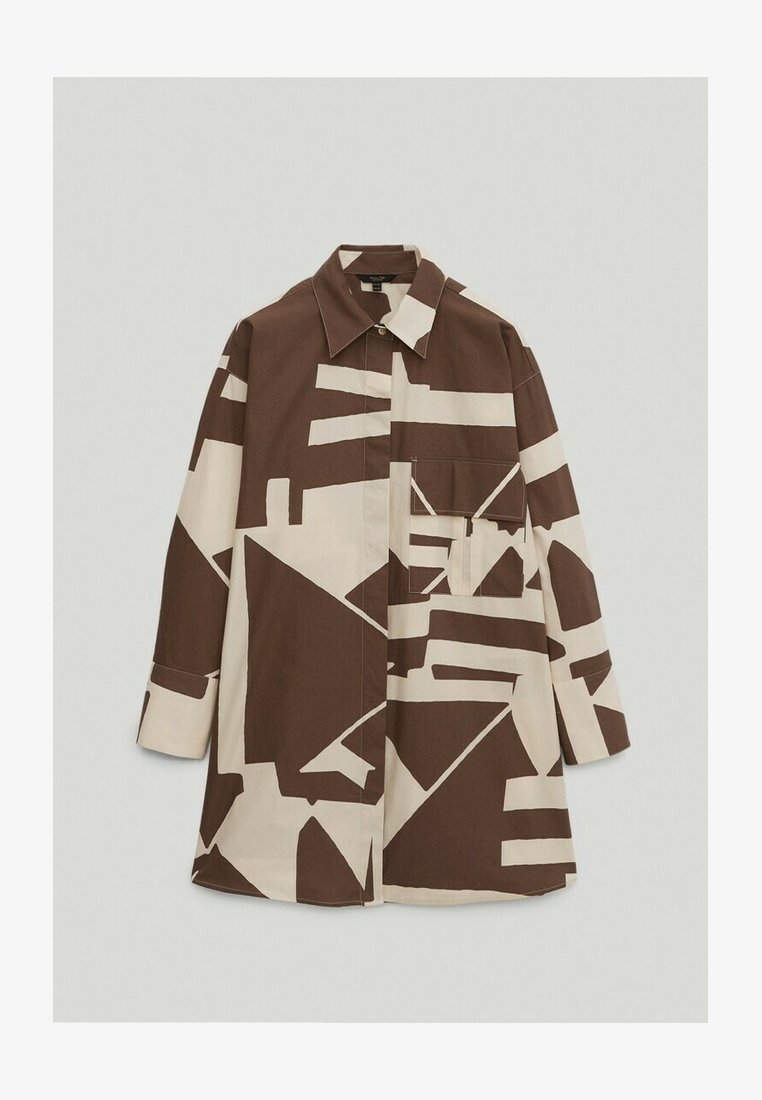 Massimo Dutti - Button-down blouse - brown