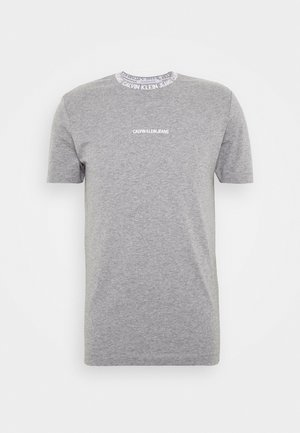 INSTITUTIONAL COLLAR LOGO - T-shirt con stampa - mottled grey