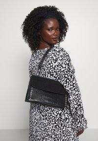 Topshop - RETRO STUDDED SHOULDER - Handbag - black - 1