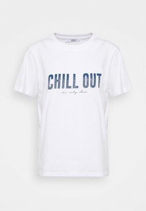 ONLTRACY - T-shirt imprimé - white