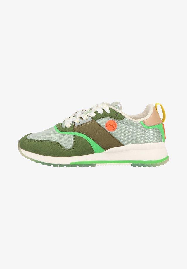 Sneakers laag - green/cream multi s