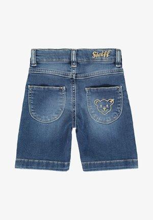 STEIFF COLLECTION BERMUDAS MIT TEDDYBÄRMOTIV - Denim shorts - ensign blue