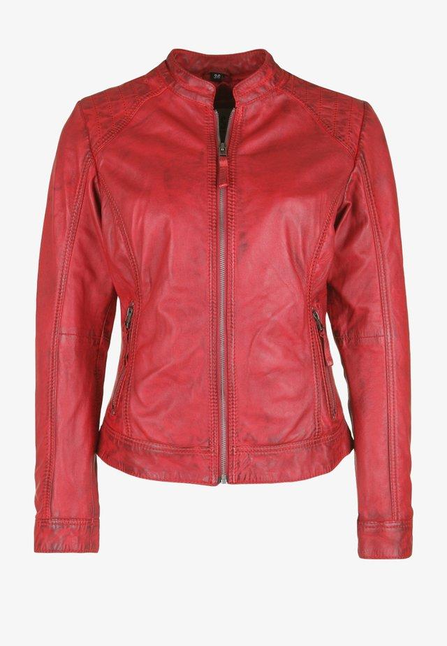 ROSTOCK - Veste en cuir - red