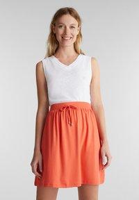 Esprit - SKIRT - Mini skirt - coral - 0