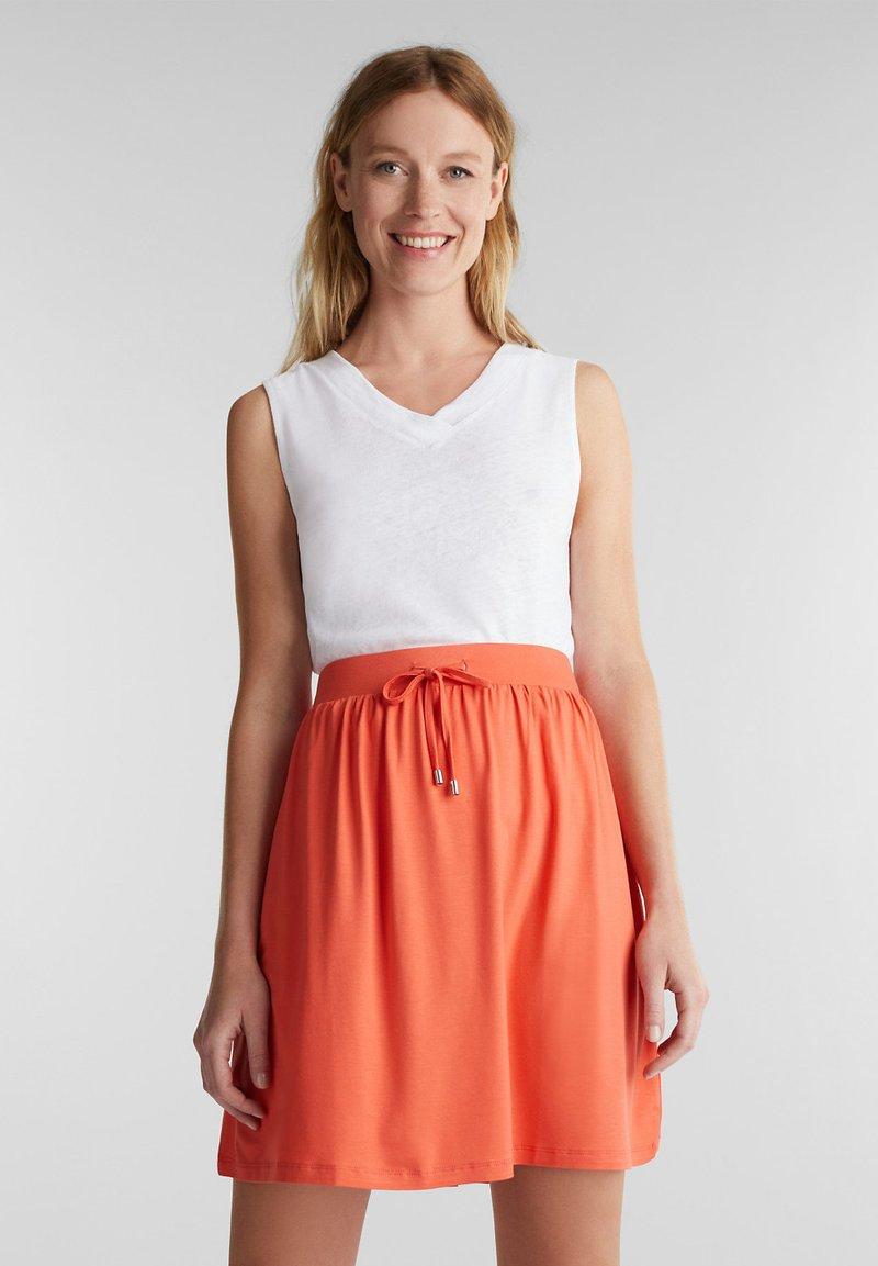 Esprit - SKIRT - Mini skirt - coral
