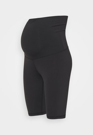 LUX MATERNITY SHORT - Leggings - black