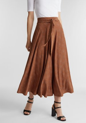 A-line skirt - rust brown
