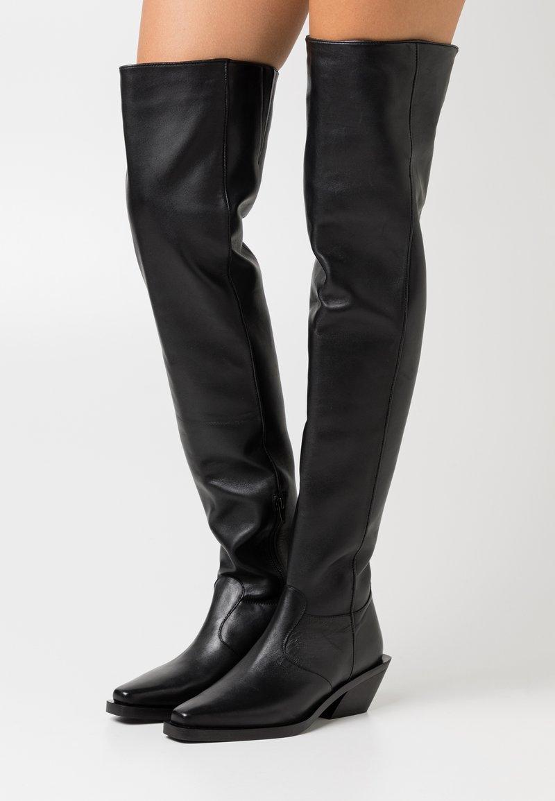 ASRA - KYLA - Over-the-knee boots - black