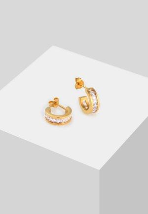 CREOLEN ZIRKONIA - Earrings - gold