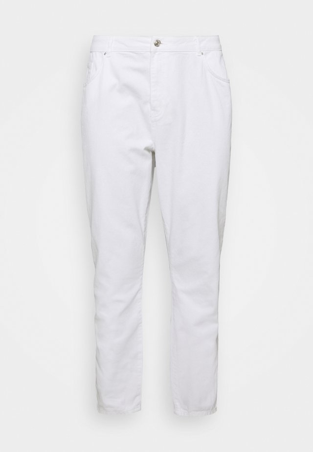 NMISABEL MOM - Jeans a sigaretta - bright white