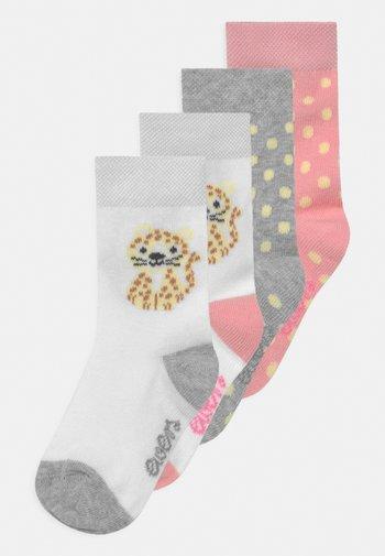 LEOPARD 4 PACK UNISEX - Socks - rosa/grau
