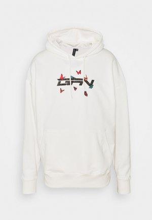 OVERSIZED BUTTERFLY HOOD - Sweatshirt - white