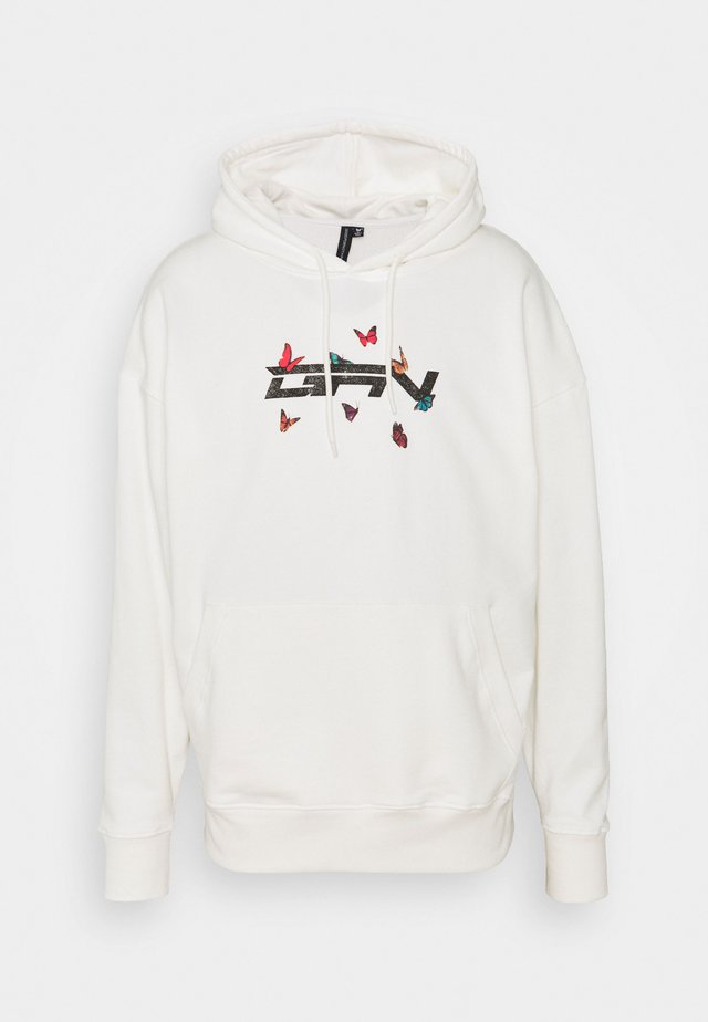 OVERSIZED BUTTERFLY HOOD - Sweatshirt - white