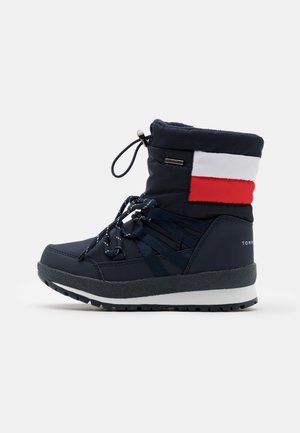 UNISEX - Winter boots - blue/red/white