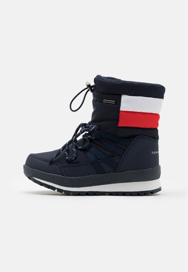 UNISEX - Talvisaappaat - blue/red/white