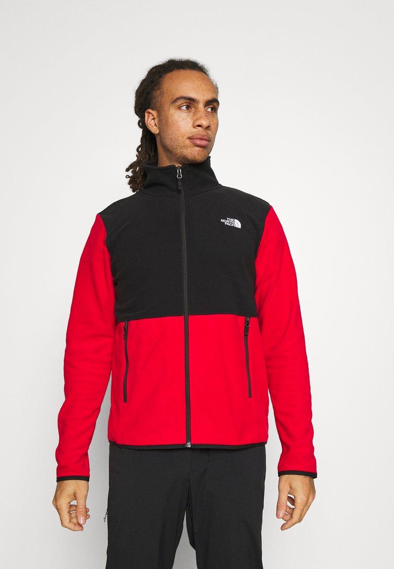 The North Face - GLACIER FULL ZIP JACKET  - Fleece jacket - red/black