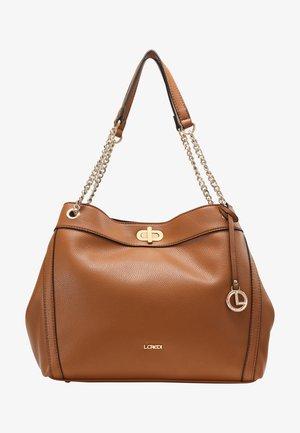 GIUSY - Handbag - cognac