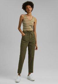 edc by Esprit - TWIST  - Trousers - khaki green - 1