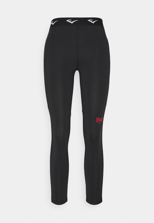 WOMEN LEONARD - Legging - black/red