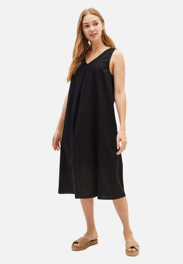 POPLIN  - Day dress - black