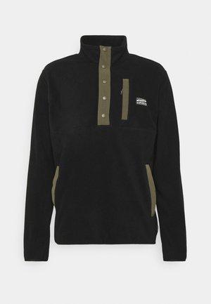 NO DESTINATION HALF SNAP - Fleece jumper - black