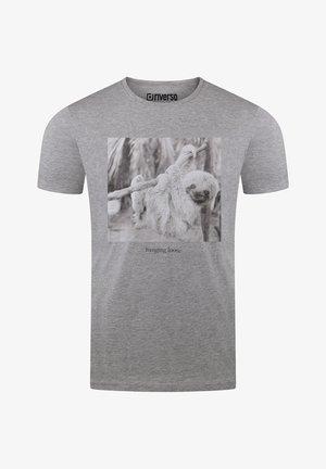 RIVLUKAS - Print T-shirt - grau (ajd)