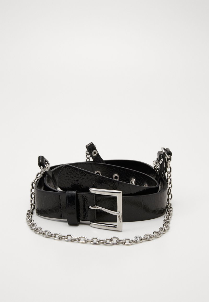 Topshop - NEW HANGING CHAIN BELT - Pásek - black