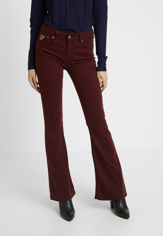 RAVAL - Trousers - burgundy