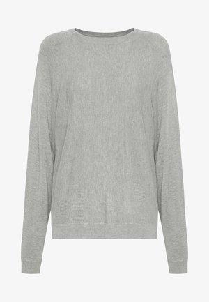 NMOWEN BATWING - Jumper - light grey