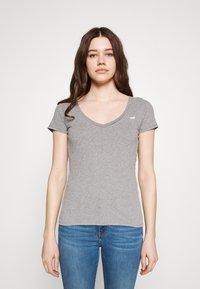 Hollister Co. - 3 PACK - Print T-shirt - white/mellow yellow/b25 - 2