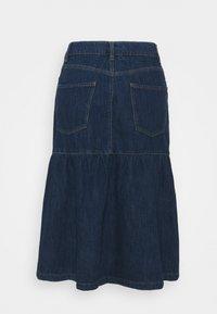 Springfield - FALDA MIDI VOLANTES - Denim skirt - medium blue - 1