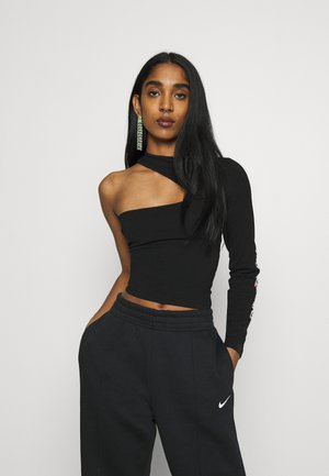 RETRO ONE SHOULDER - Top s dlouhým rukávem - black
