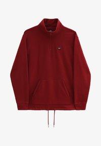 Vans - MN VERSA STANDARD Q-ZIP - Sweatshirt - pomegranate - 2