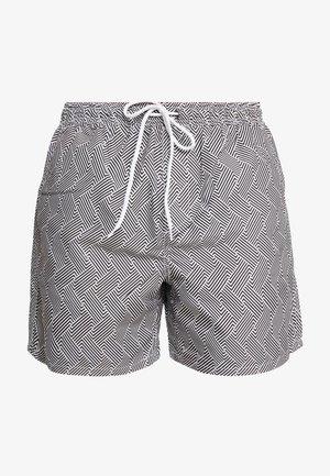SKIPTON - Swimming shorts - black/white