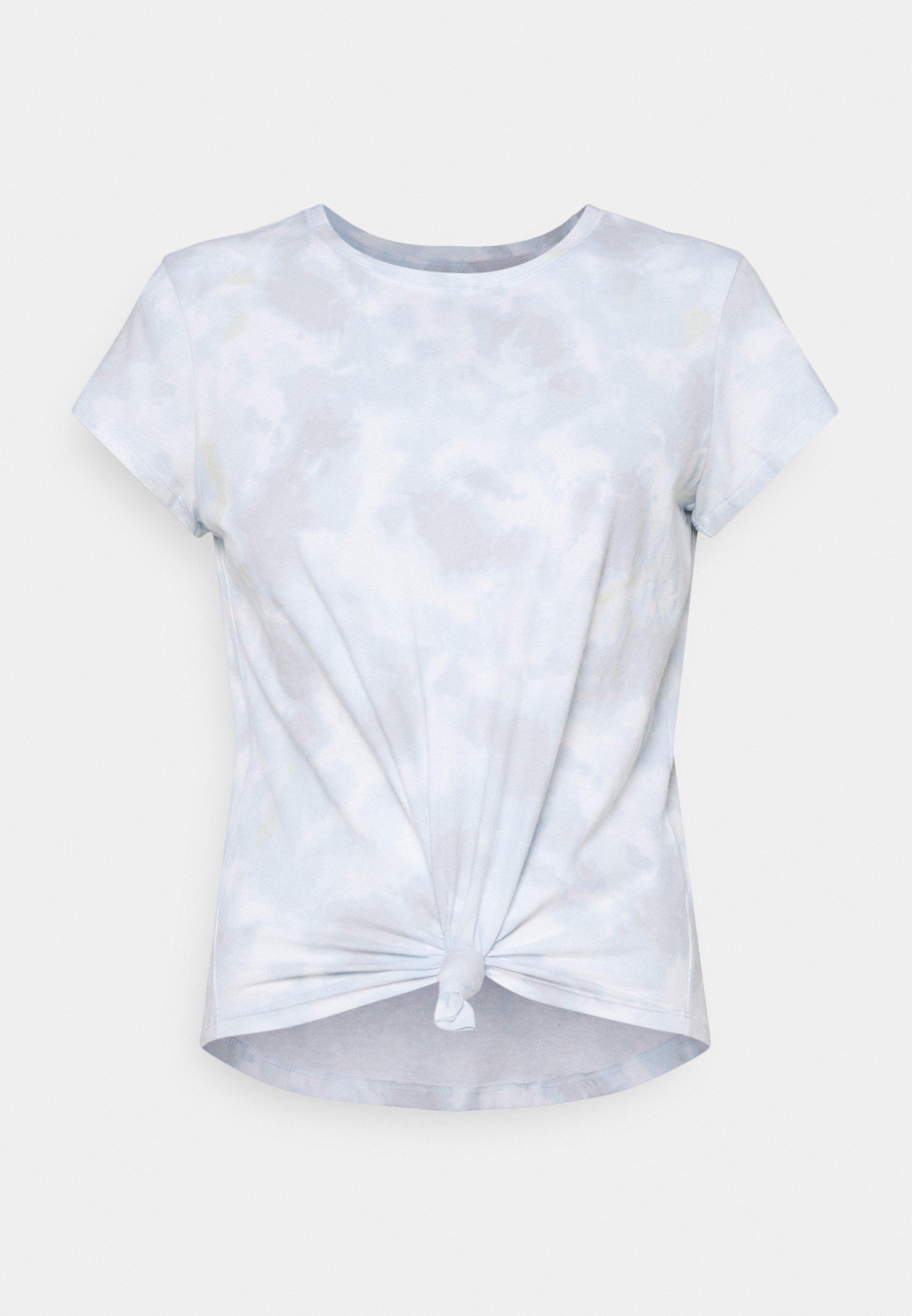 Women KNOTTED MIDI WASH  - Print T-shirt - light blue