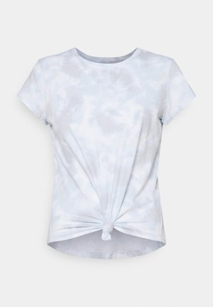 KNOTTED MIDI WASH  - Print T-shirt - light blue