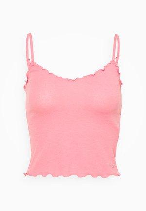 BARE V NECK LETTUCE CAMI  - Top - dark pink