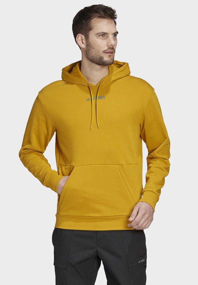 TERREX LOGO HOODIE - Jersey con capucha - gold
