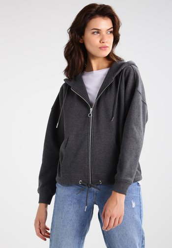 KIMONO  - Zip-up sweatshirt - charcoal