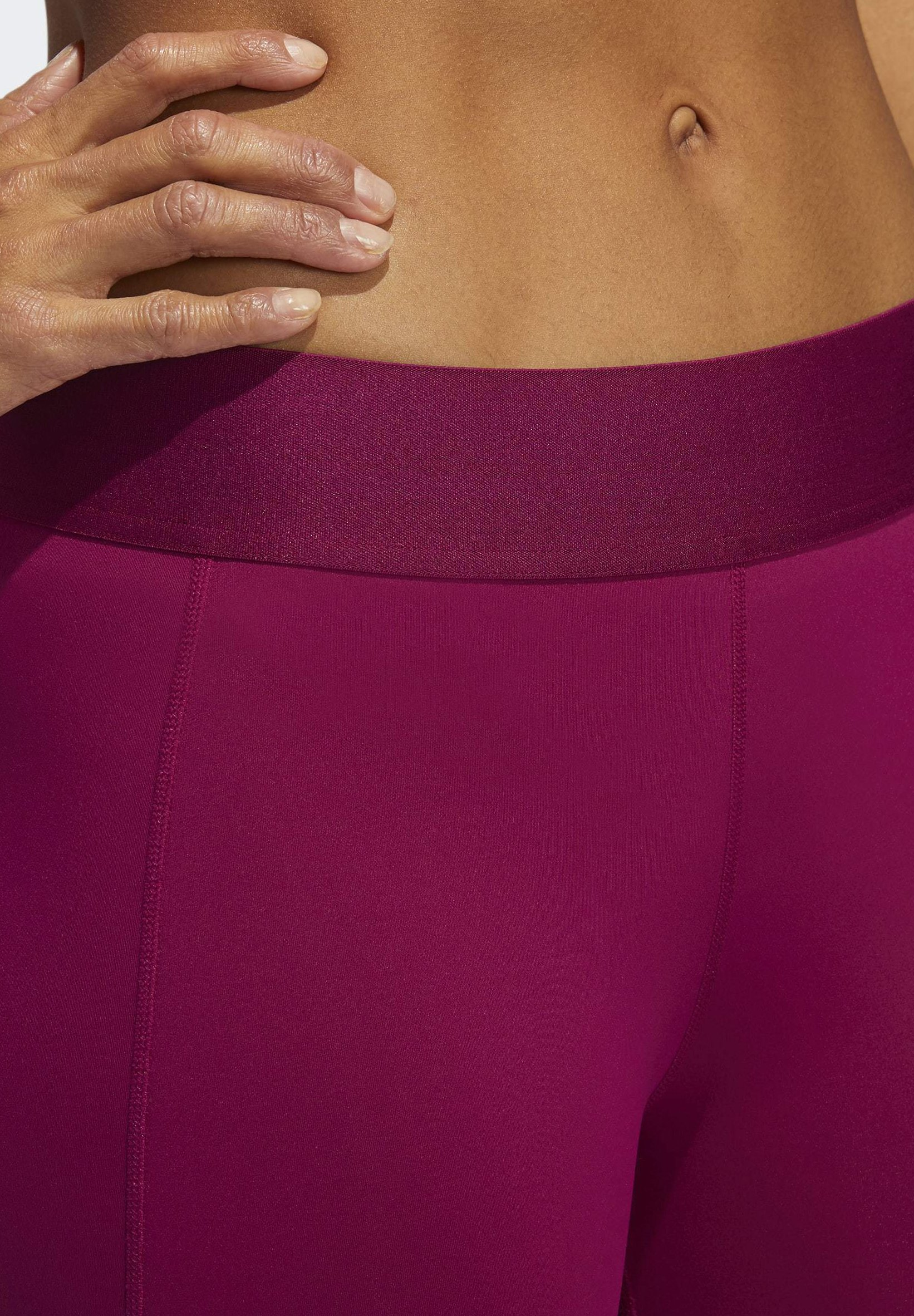 adidas Performance ALPHASKIN LEGGINGS - 3/4 sports trousers - purple DnxA7