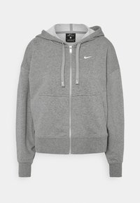 DRY GET FIT  - Zip-up sweatshirt - carbon heather/particle grey/white