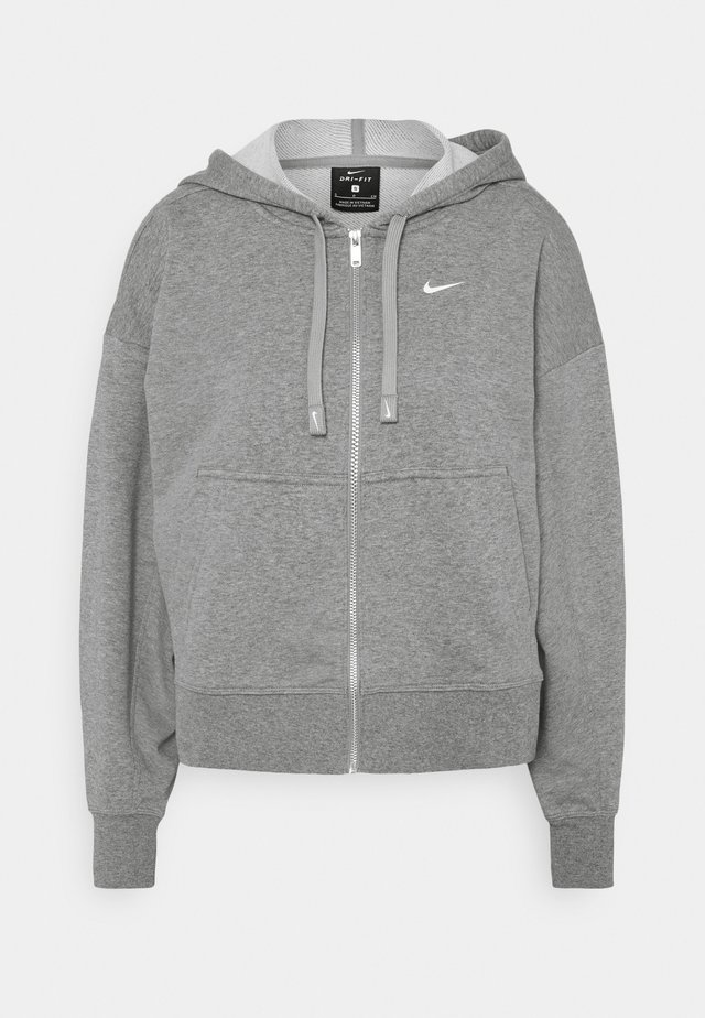 DRY GET FIT  - Zip-up hoodie - carbon heather/particle grey/white