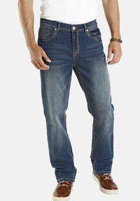 Jan Vanderstorm - TIEFBUNDJEANS JANI - Relaxed fit jeans - blau - 0