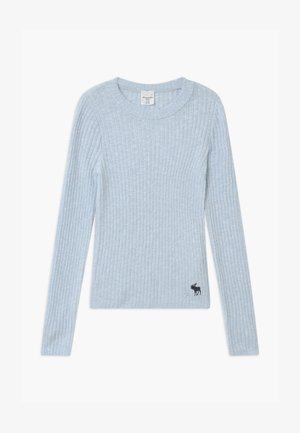 COZY SLIM - Strikpullover /Striktrøjer - light blue solid