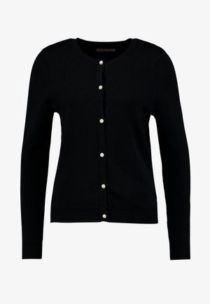 BASIC- PEARL BUTTON CARDIGAN - Cardigan - black