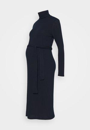 ROLL BELT MIDI - Jersey dress - navy
