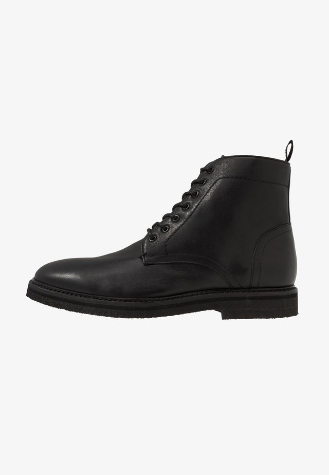 LACE UP BOOT - Bottines à lacets - black