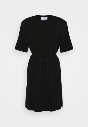 MODENA SLIT DRESS - Jerseykjole - black