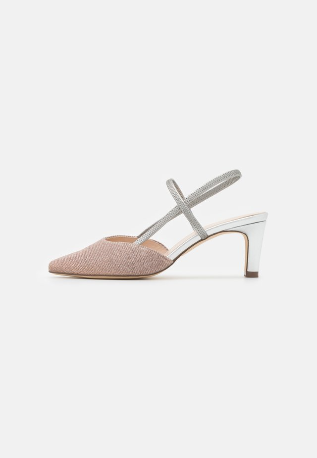MITTY - Klassieke pumps - powder shimmer/silber coru